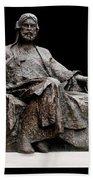 Statue Of Nizami Ganjavi  Beach Towel