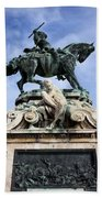 Statue Of Prince Eugene Of Savoy In Budapest Beach Towel