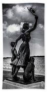 Statue St Clair Mi Beach Towel