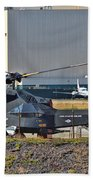 Stealth Air Attack Helicopter Beach Towel