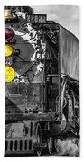 Steam Engine 844 Beach Towel