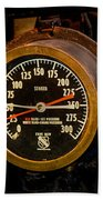 Steam Engine Gauge Beach Towel