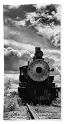 Steam Engine Beach Towel
