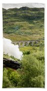 Steam Engine On Glenfinnan Viaduct Beach Towel