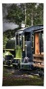Steam Locomotive Beach Towel