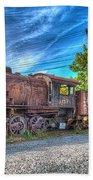 Steam Locomotive No 1151 Norfolk And Western Class M2c Beach Towel