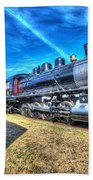 Steam Locomotive No 4 Virginian Class Sa  Beach Towel