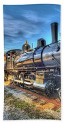 Steam Locomotive No 6 Norfolk And Western Class G-1 Beach Towel