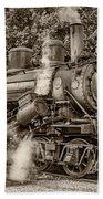 Steam Power Sepia Beach Towel