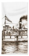 Steamboat Reliance Sepia Beach Towel
