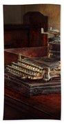 Steampunk - A Crusty Old Typewriter Beach Towel