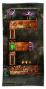 Steampunk - Alphabet - E Is For Electricity Beach Towel