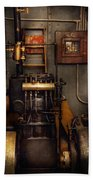 Steampunk - Back In The Engine Room Beach Towel