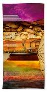 Steampunk - Blimp - Everlasting Wonder Beach Sheet