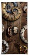 Steampunk - Clock - Time Machine Beach Sheet