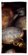 Steampunk - Clock - Time Worn Beach Towel