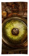Steampunk - Creepy - Eye On Technology  Beach Towel