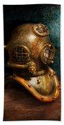 Steampunk - Diving - The Diving Helmet Beach Towel