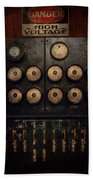 Steampunk - Electrical - Center Of Power Beach Towel by Mike Savad