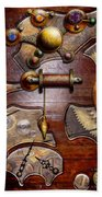 Steampunk - Gears - Reverse Engineering Beach Towel by Mike Savad