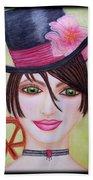 Steampunk Girl Beach Towel