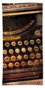 Steampunk - Just An Ordinary Typewriter  Beach Towel