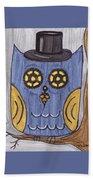 Steampunk Owl Beach Towel