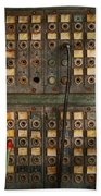 Steampunk - Phones - The Old Switch Board Beach Towel by Mike Savad