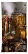 Steampunk - Plumbing - Distilation Apparatus  Beach Towel
