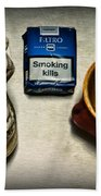 Steampunk Smoking Break Beach Towel