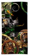 Steampunk - Surreal - Mind Games Beach Towel