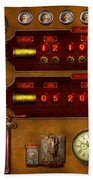 Steampunk - Temporal Flux Beach Towel by Mike Savad