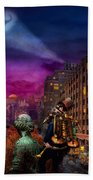 Steampunk - The Great Mustachio Beach Towel by Mike Savad
