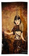 Steampunk - The Headhunter Beach Towel by Paul Ward