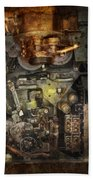 Steampunk - The Turret Computer  Beach Towel by Mike Savad