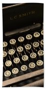 Steampunk - Typewriter - The Age Of Industry Beach Towel by Paul Ward