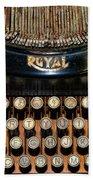 Steampunk - Typewriter -the Royal Beach Towel