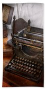 Steampunk - Typewriter - The Secret Messenger  Beach Towel by Mike Savad