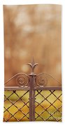 Steel Ornamented Fence Beach Towel