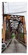 Steel Span Railroad Bridge Manayunk  Philadelphia Pa Beach Towel