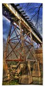 Steel Strong Rr Bridge Over The Yellow River Beach Towel