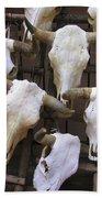 Steer Skulls  - New Mexico Beach Towel