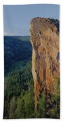 1a5719 Steins Pillar Oregon Beach Towel