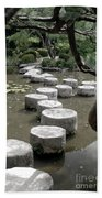 Stepping Stone Kyoto Japan Beach Towel