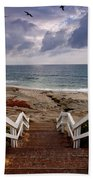 Steps And Pelicans Beach Towel