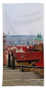 Steps Of Prague Beach Towel