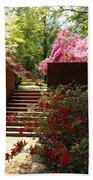 Steps To Azalea Fairyland Beach Towel