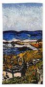 Steps To The Sea Abstract Beach Towel