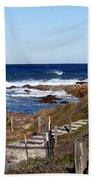 Steps To The Sea Beach Towel