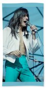 Steve Perry Of Journey At Day On The Green - July 1980 Beach Towel
